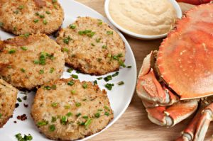 Crab cakes made from fresh crab